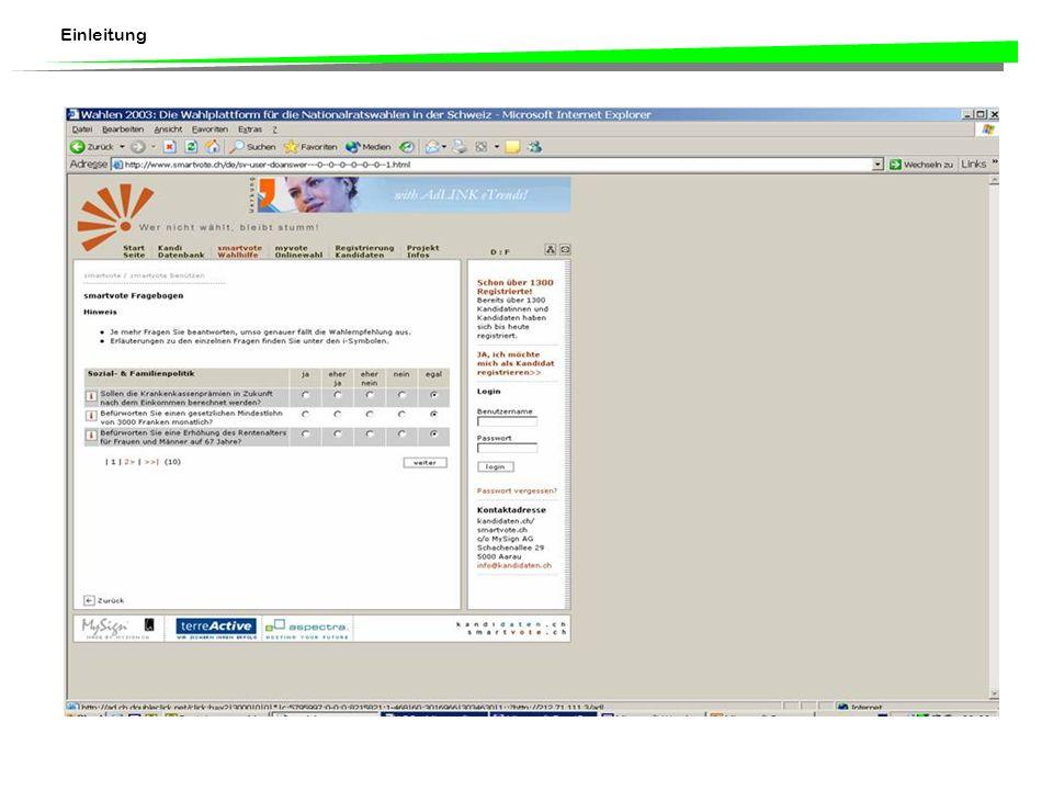 Einleitung www.smartvote.ch