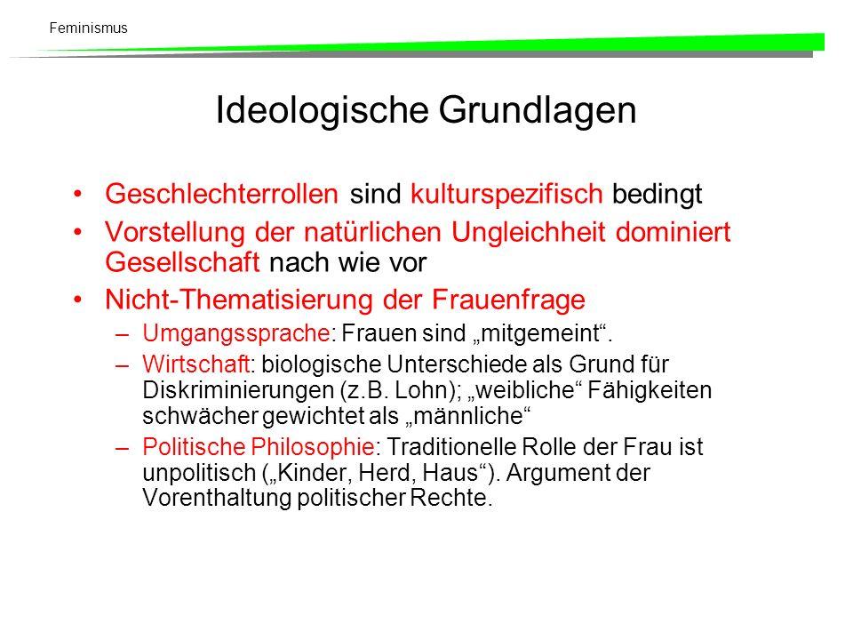 Feminismus Historische Entwicklung der Frauenbewegung Alte Frauenbewegung (19.
