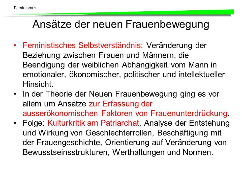 Feminismus Theoretische Hauptströmungen Politischer Radikalfeminismus.