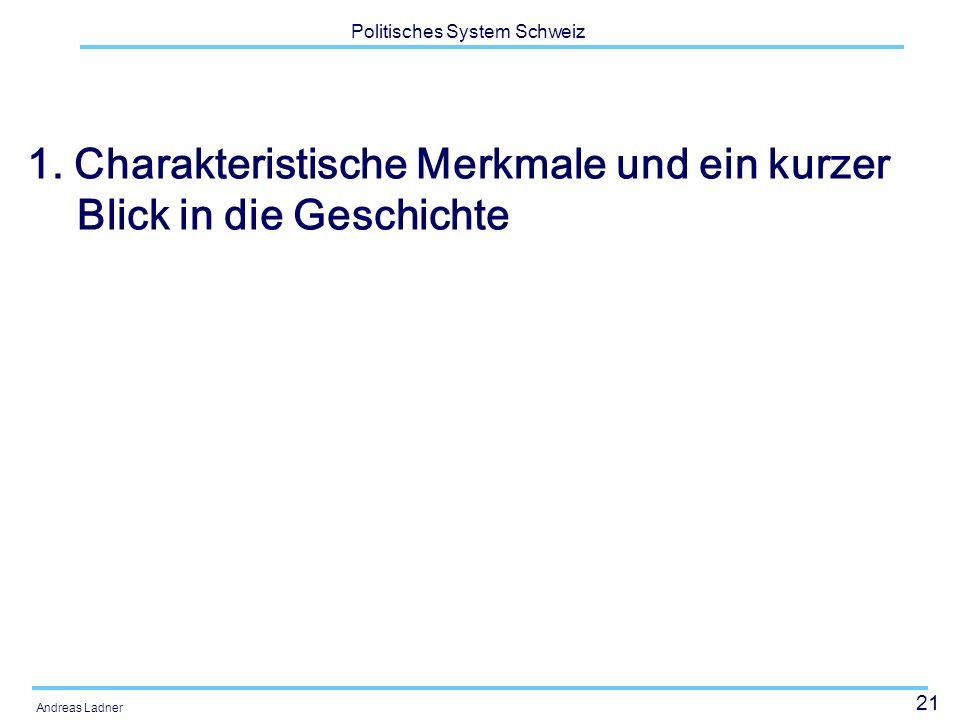 21 Politisches System Schweiz Andreas Ladner 1.