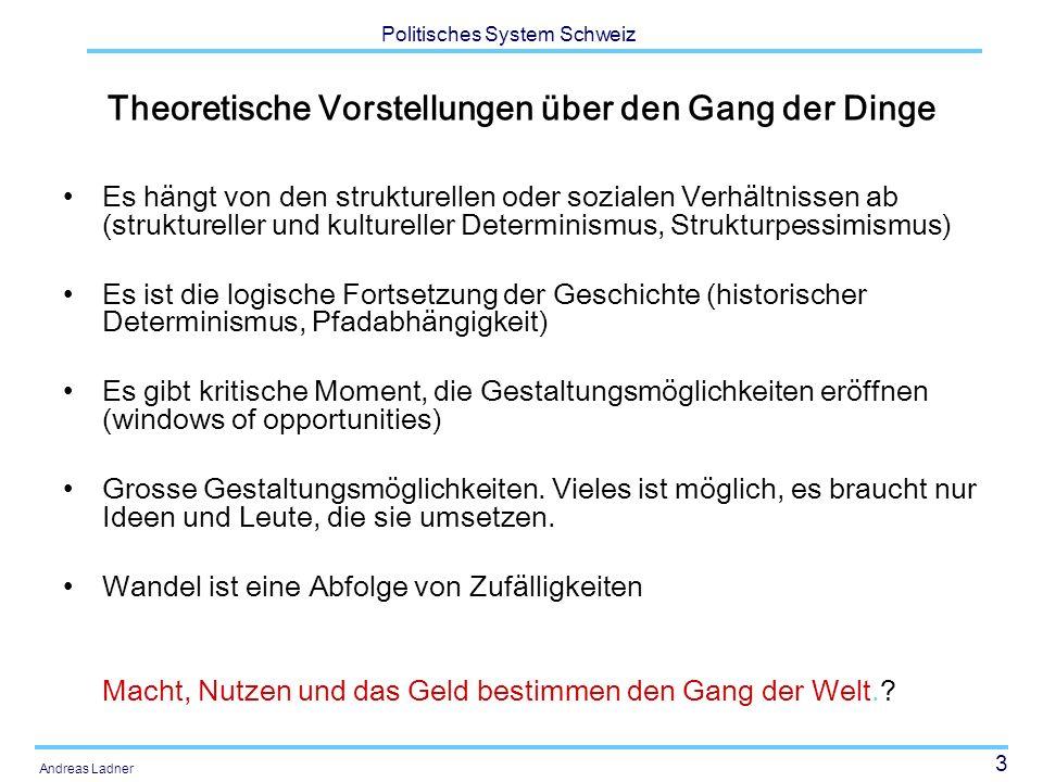 34 Politisches System Schweiz Andreas Ladner AusländerInnen nach Aufenthaltskategorie Quelle: Bundesamt für Statistik (2003: 71)