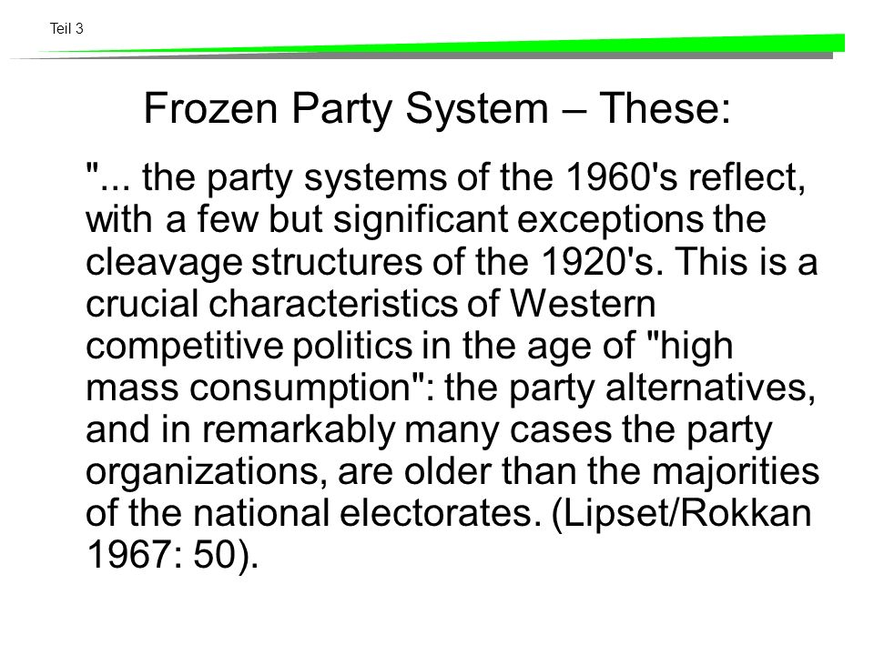 Teil 3 Frozen Party System – These:
