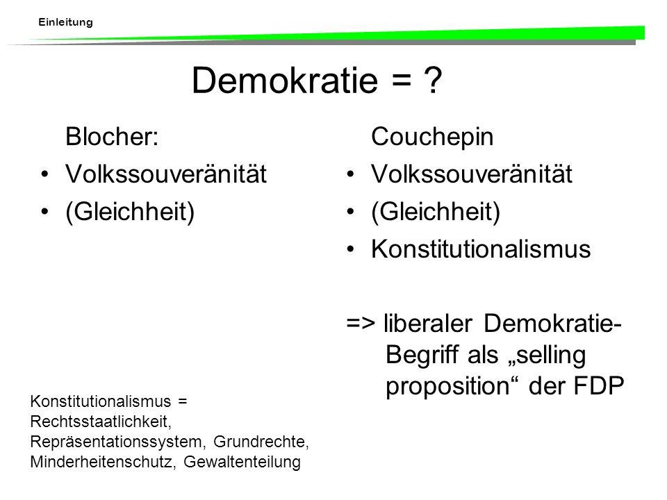 Einleitung Demokratie = .