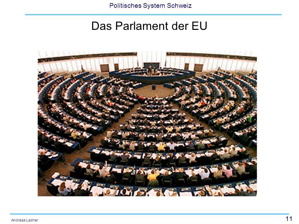 11 Politisches System Schweiz Andreas Ladner Das Parlament der EU