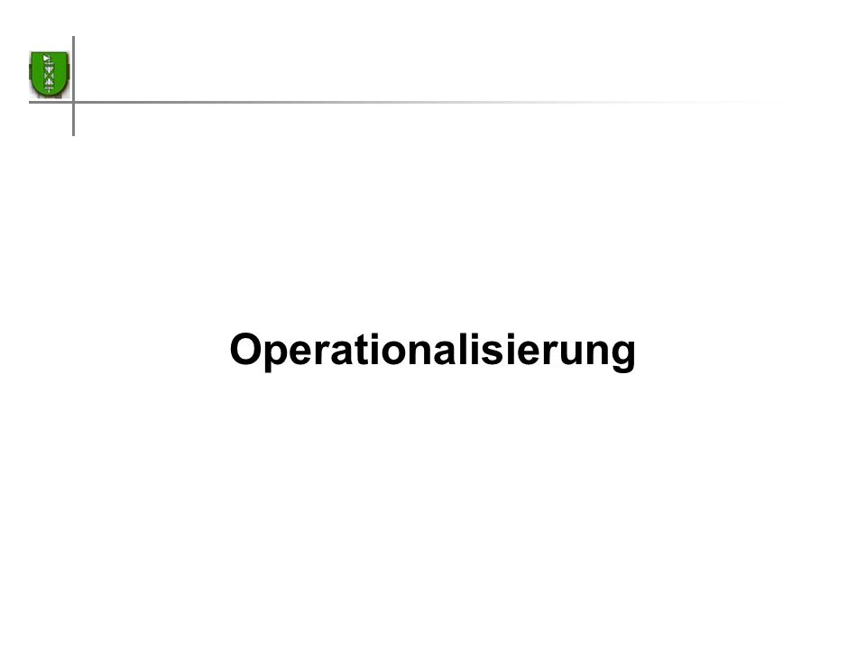 Operationalisierung