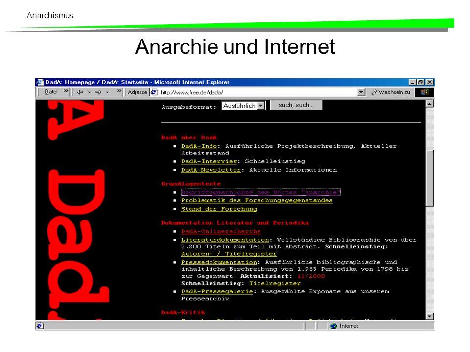 Anarchismus Anarchie und Internet