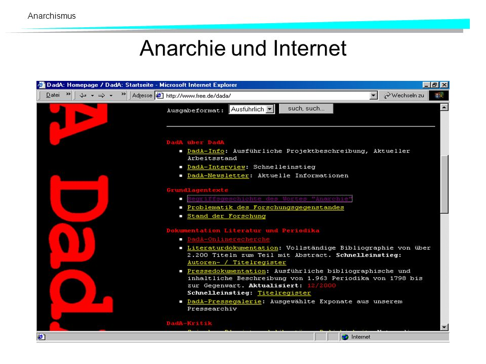 Anarchismus Anarchie und Internet