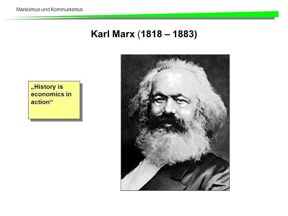 Marxismus und Kommunismus Karl Marx (1818 – 1883) History is economics in action