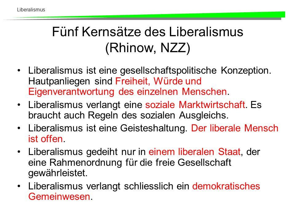 Liberalismus Liberalismus als