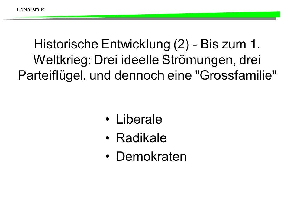 Liberalismus Historische Entwicklung (1) - 1848: Freisinn als