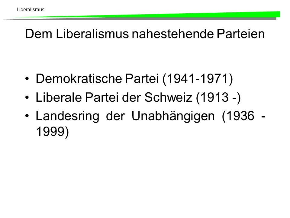 Liberalismus Historische Entwicklung (5) - Neueste Zeit ab 1975 Reideologisierung im Zuge der weltwirtschaftlichen Rezession (Ende der Periode der Ver
