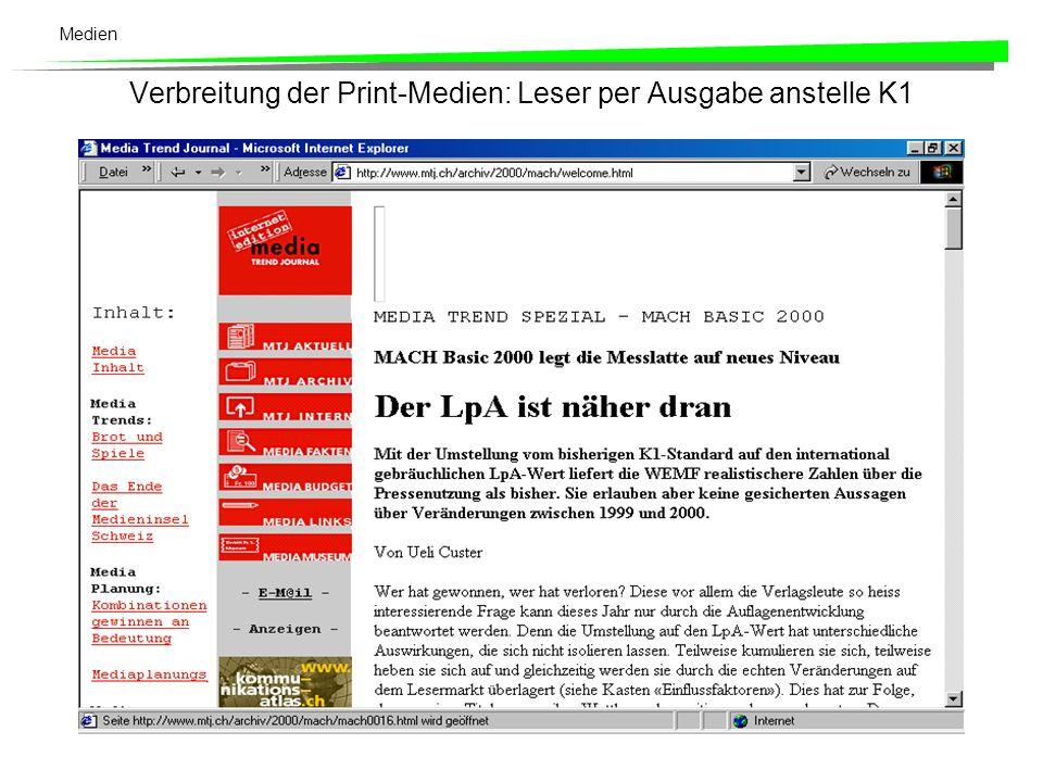 Medien Hier einige Beispiele aus Blum (1996: 203): Die Südostschweiz ( Neue Bündner Zeitung (demokratisch), Freie Rätier (freisinnig) und Bündner Tagblatt) National-Zeitung (freisinnig, dann non-konform) und die Basler-Nachrichten (liberalkonservativ, dann liberal) zur Basler Zeitung Vaterland (christlich-demokratisch) und das Luzerner Tagblatt (freisinnig) zuerst zur Luzerner Zeitung , dann die Luzerner Zeitung und die eher etwas progressiven parteiunabhängigen Luzerner Neusten Nachrichten zur Neuen Luzerner Zeitung Le Temps aus dem Journal de Genève et Gazette de Lausanne und Nouveau Quotidien Aargauer Zeitung aus Argauer Tagblatt und Badener Tagblatt.