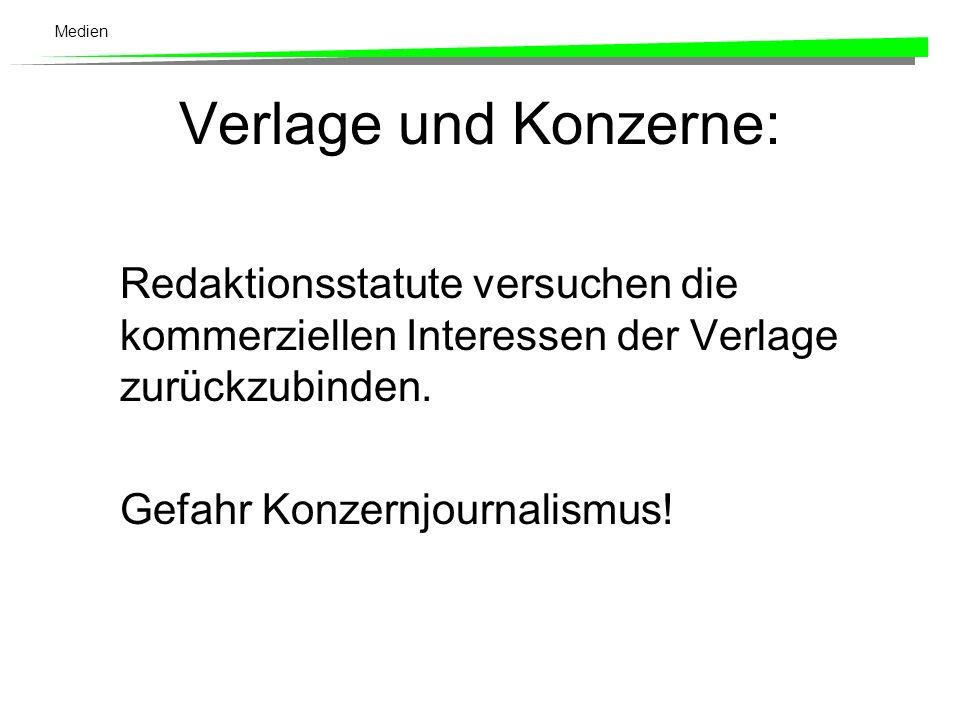 Medien Verlagshäuser