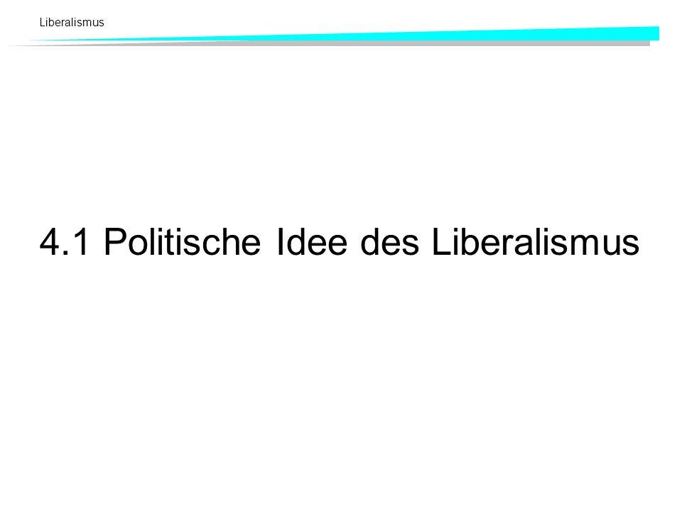 Liberalismus 4.1 Politische Idee des Liberalismus