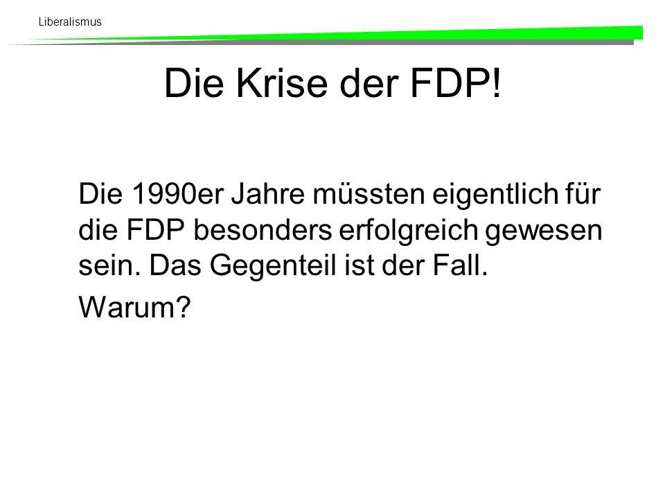 Liberalismus Die Krise der FDP.