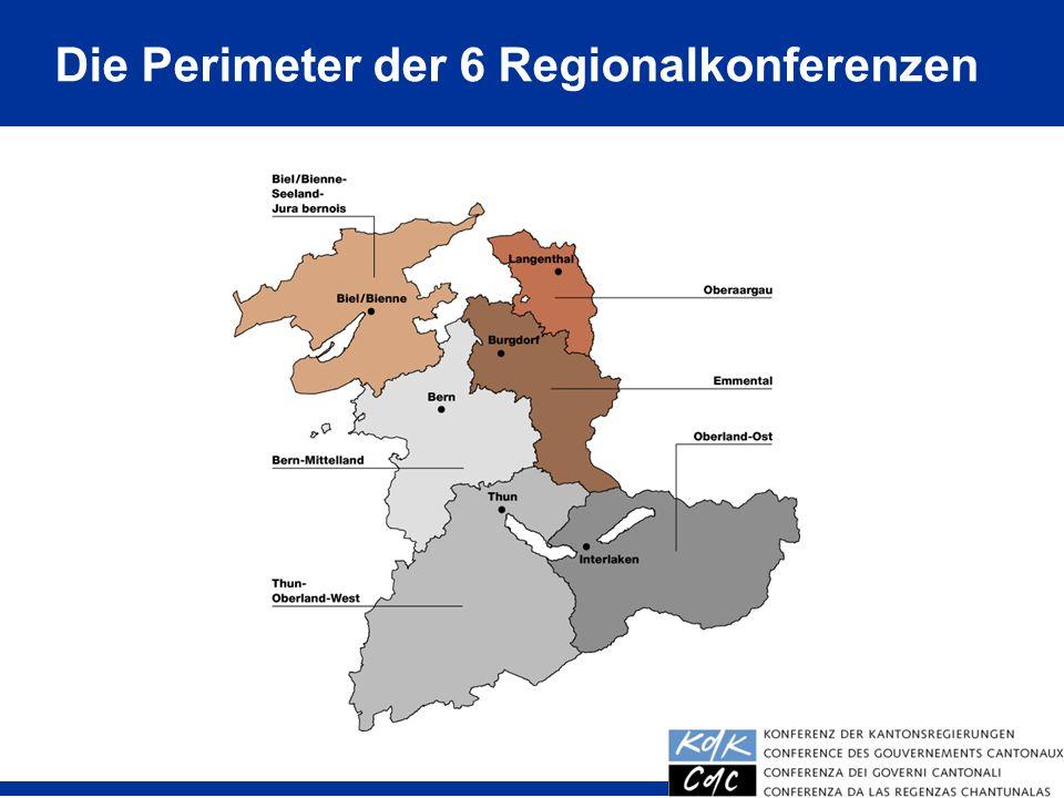 18 Die Perimeter der 6 Regionalkonferenzen