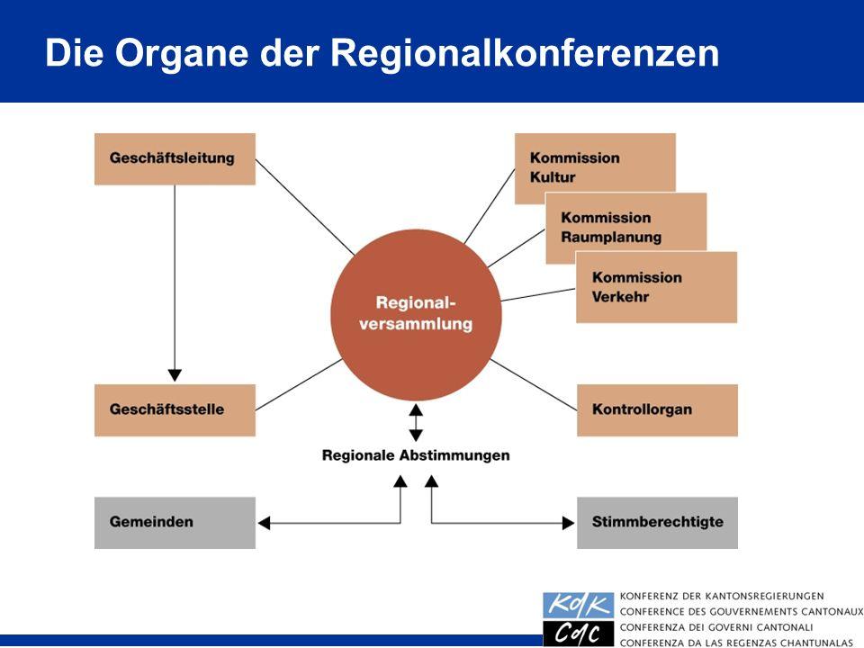19 Die Organe der Regionalkonferenzen