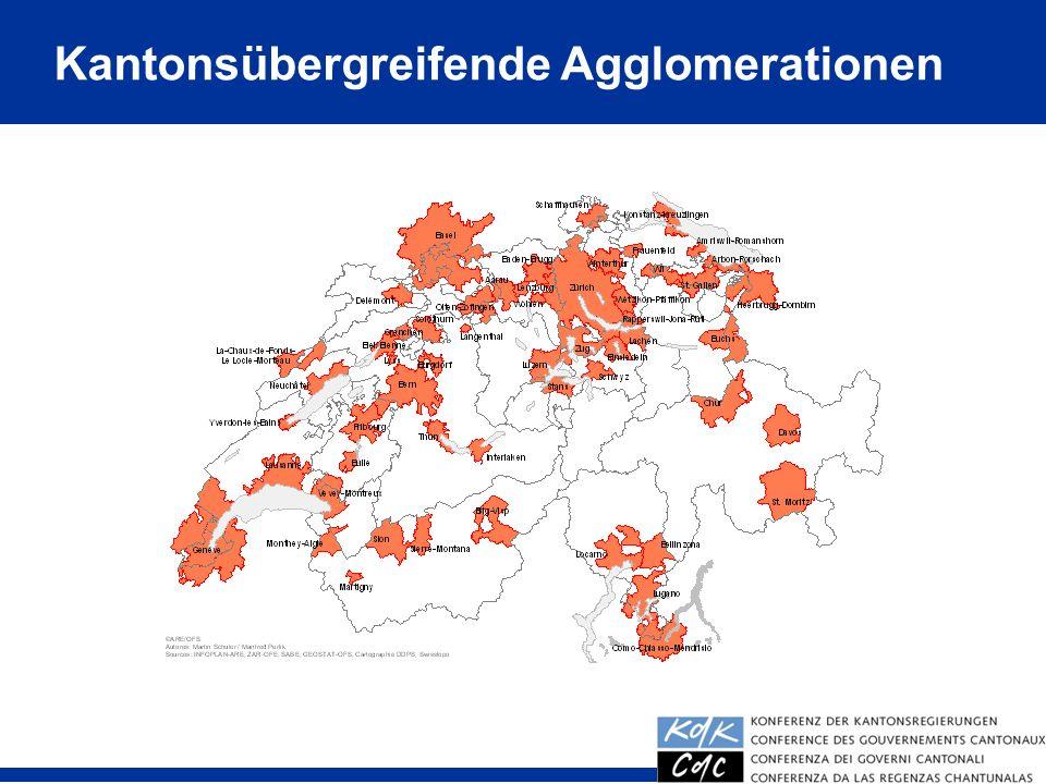 24 Kantonsübergreifende Agglomerationen