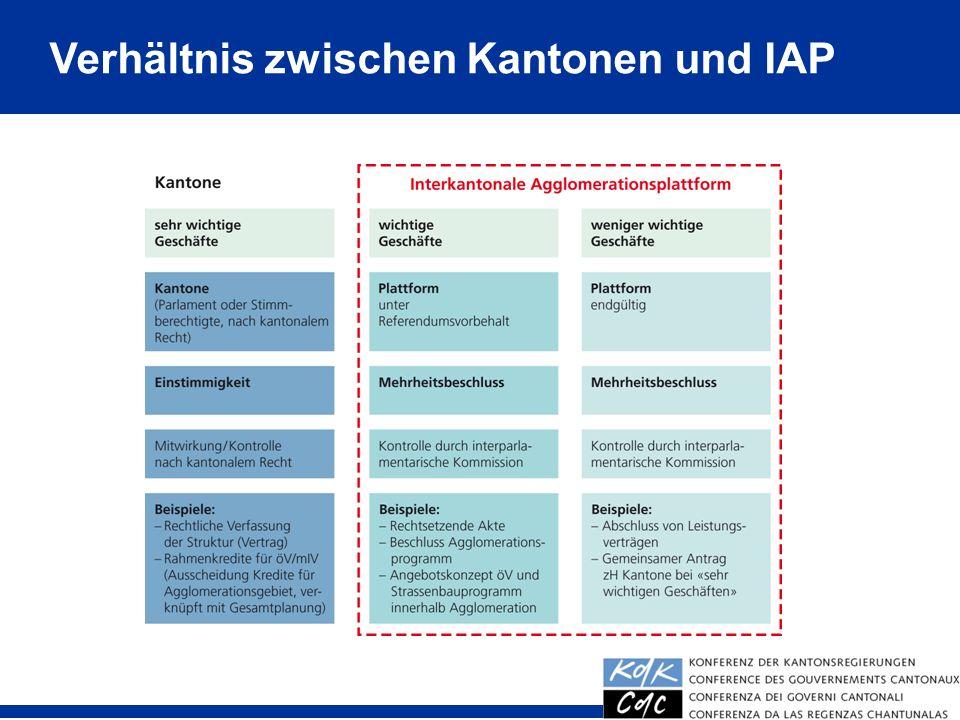 31 Verhältnis zwischen Kantonen und IAP