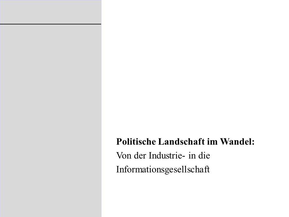Politische Landschaft im Wandel: Von der Industrie- in die Informationsgesellschaft