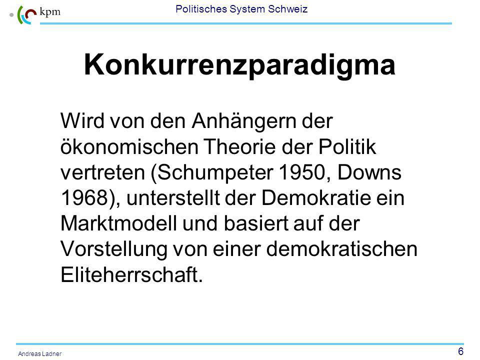 17 Politisches System Schweiz Andreas Ladner 2.Die Schweizer Parteien