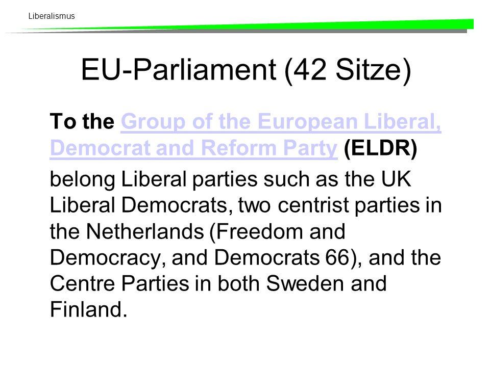Liberalismus Liberale Parteien in Europa