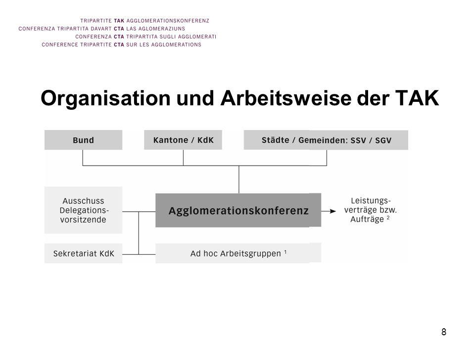 8 Organisation und Arbeitsweise der TAK