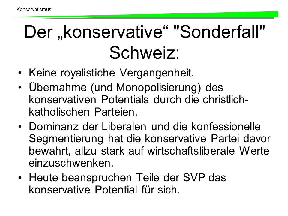 Konservatismus Der konservative