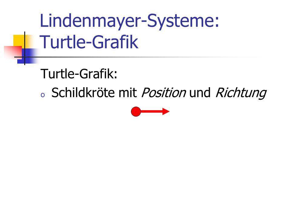Lindenmayer-Systeme: Turtle-Grafik Turtle-Grafik: o Schildkröte mit Position und Richtung