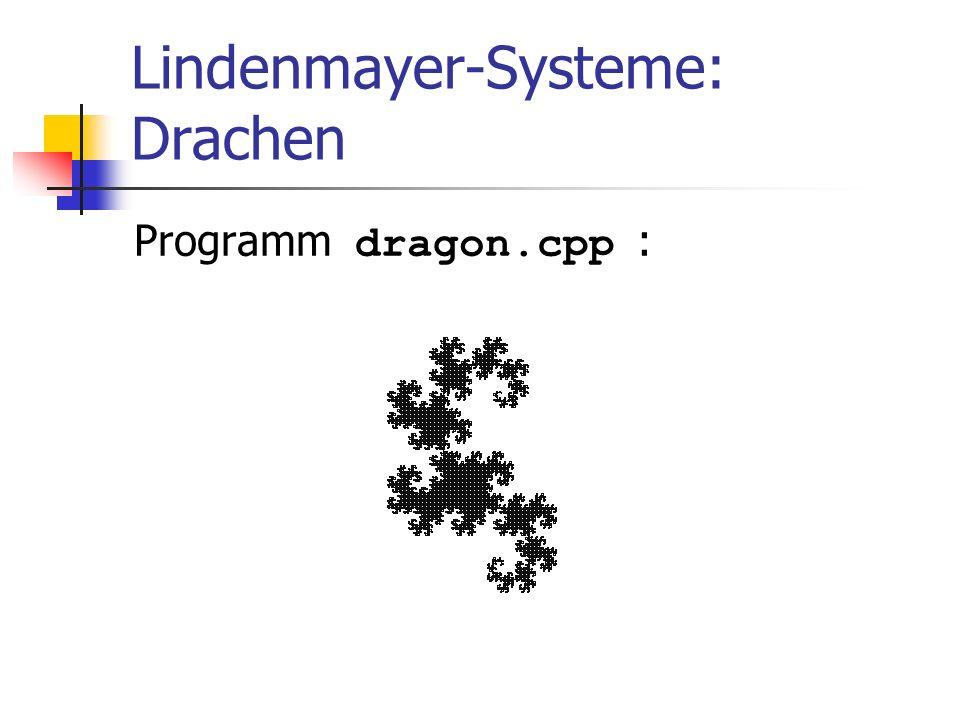 Lindenmayer-Systeme: Drachen Programm dragon.cpp :