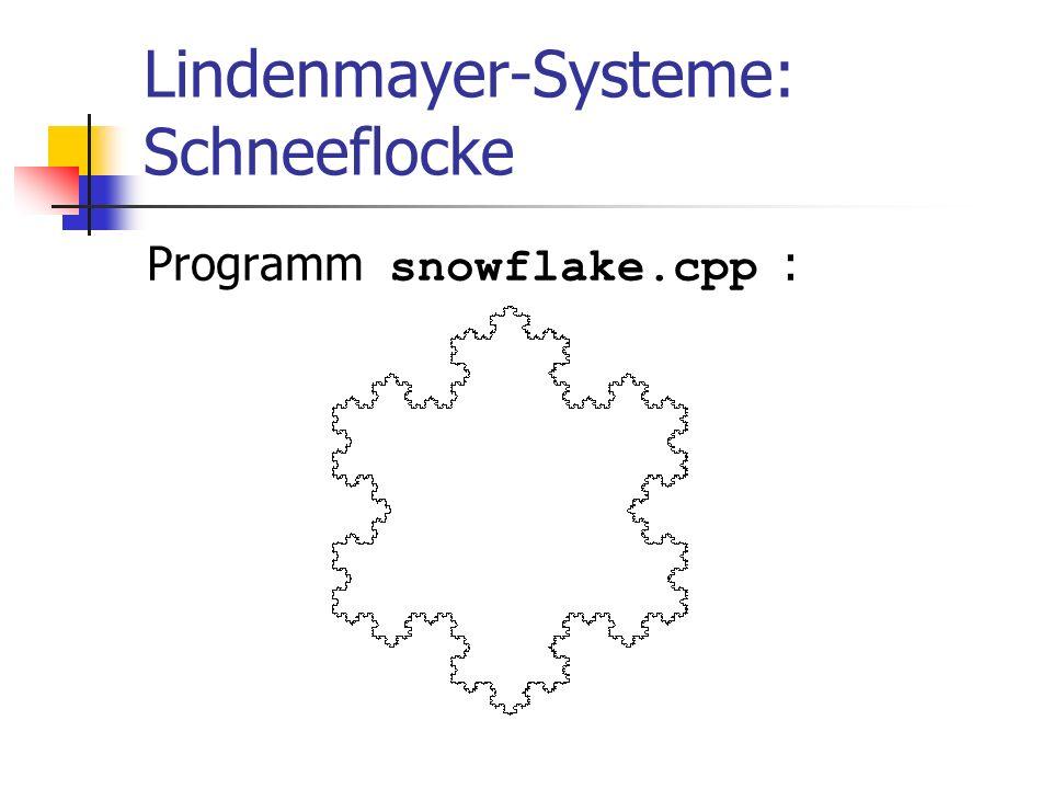 Lindenmayer-Systeme: Schneeflocke Programm snowflake.cpp :