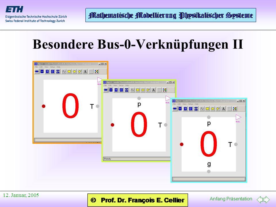 Anfang Präsentation 12. Januar, 2005 Besondere Bus-0-Verknüpfungen II