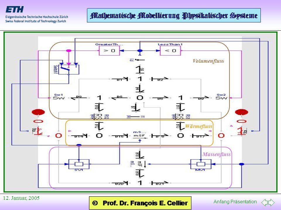 Anfang Präsentation 12. Januar, 2005 Volumenfluss Wärmefluss Massenfluss
