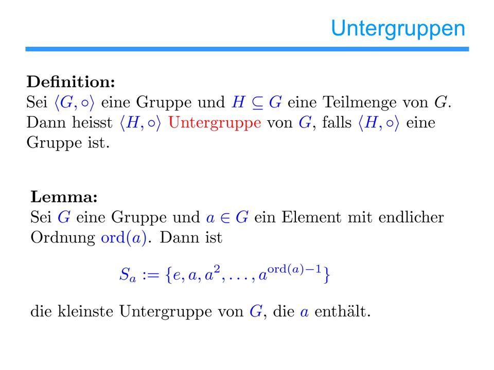 Untergruppen