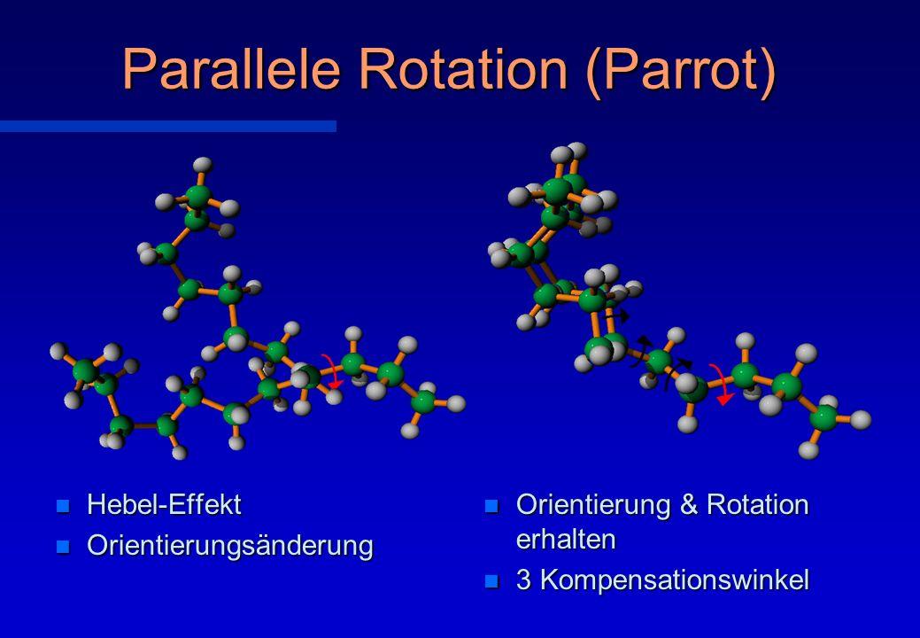 Parallele Rotation (Parrot) n Orientierung & Rotation erhalten n 3 Kompensationswinkel n Hebel-Effekt n Orientierungsänderung