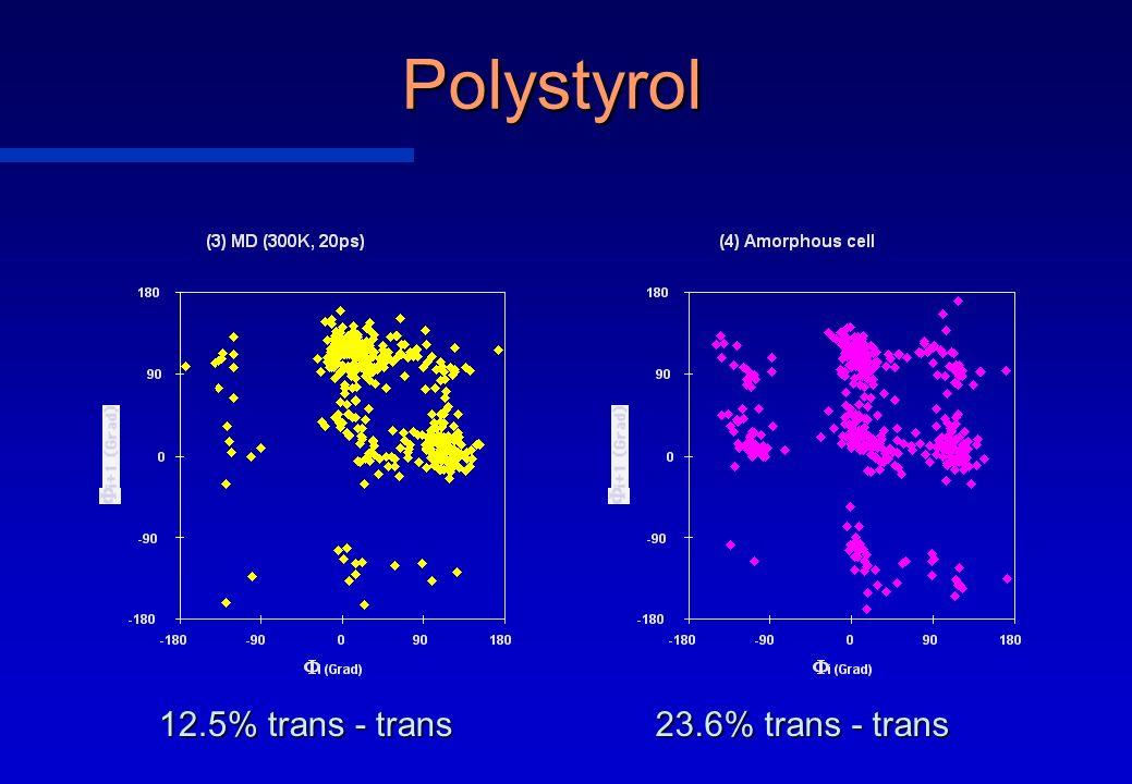 Polystyrol 12.5% trans - trans 23.6% trans - trans