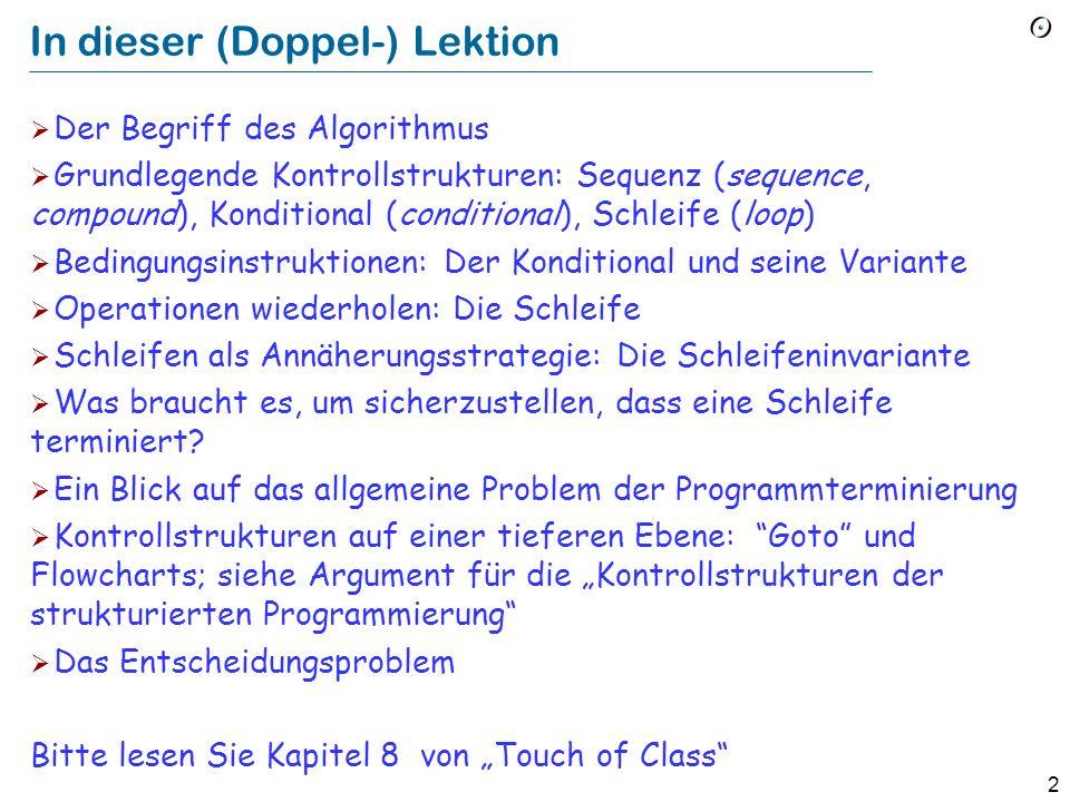 62 Der Levenshtein-Distanz-Algorithmus from i := 1 until i > source.