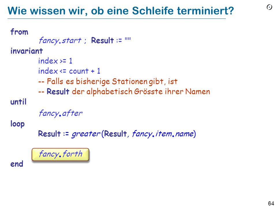 63 Wie wissen wir, ob eine Schleife terminiert? from fancy. start ; Result :=