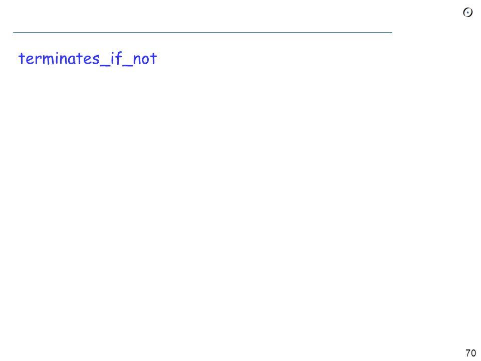 69 Das Entscheidungsproblem in Eiffel Nehmen Sie an, wir haben ein Feature terminates (my_program: STRING ): BOOLEAN -- Terminiert my_program .