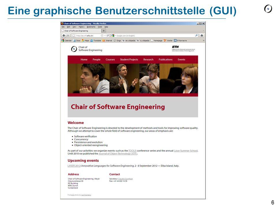 6 Eine graphische Benutzerschnittstelle (GUI)