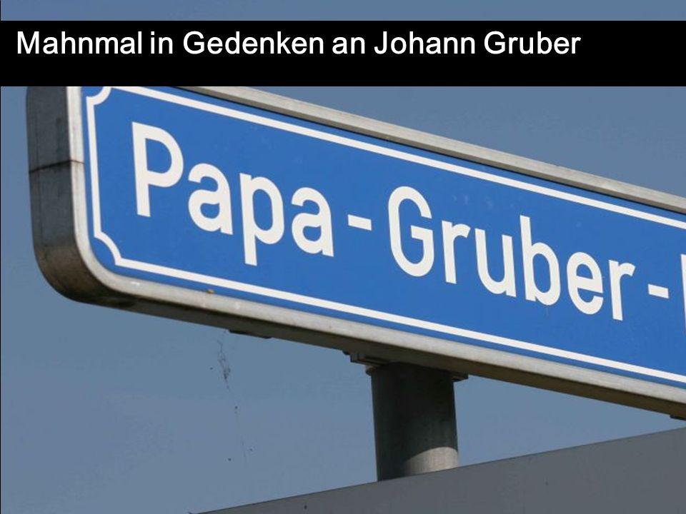 LEONART 2011 Mahnmal in Gedenken an Johann Gruber