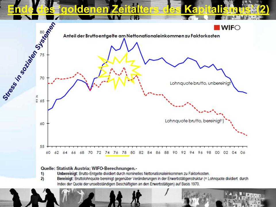 Ende des goldenen Zeitalters des Kapitalismus (2) Stress in sozialen Systemen