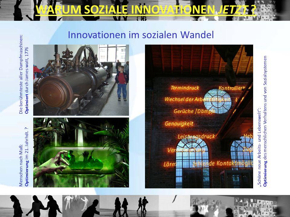 Die berühmteste aller Dampfmaschinen:Optimiert durch James watt, 1776 Menschen nach Maß:Optimierung im 21. Jahrhdt. ? Schöne neue Arbeits- und Lebensw