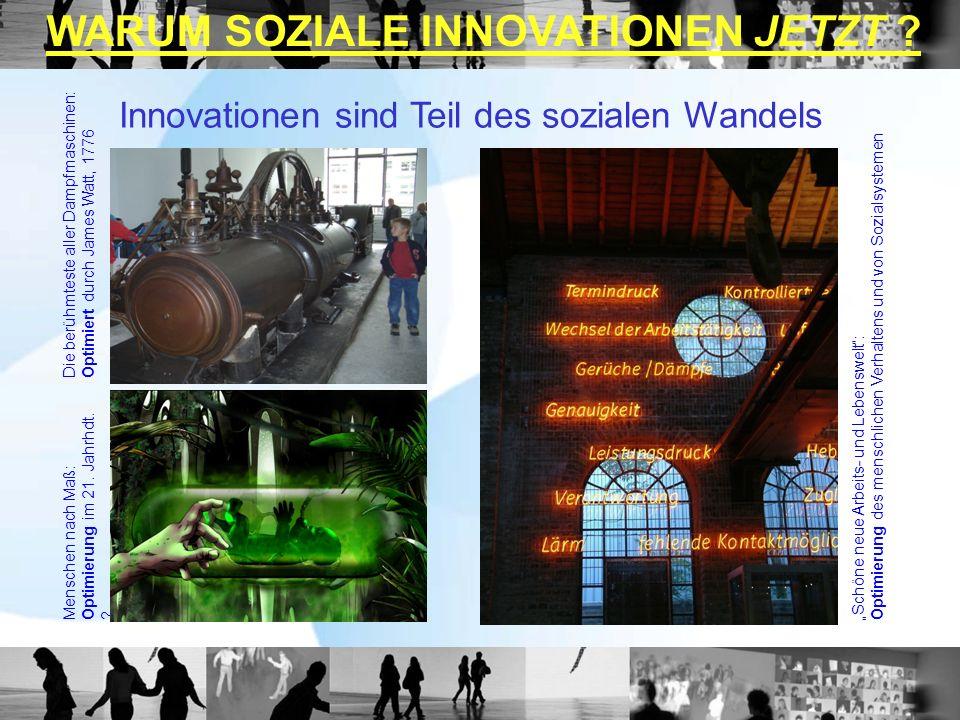 Die berühmteste aller Dampfmaschinen:Optimiert durch James Watt, 1776 Menschen nach Maß:Optimierung im 21. Jahrhdt. ?Schöne neue Arbeits- und Lebenswe