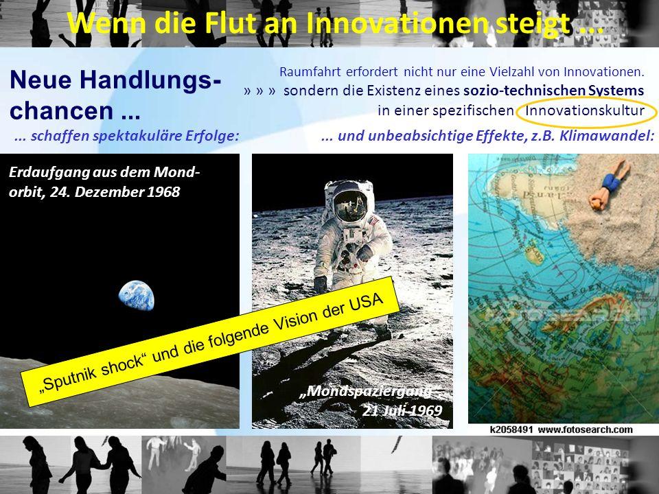 Raumfahrt erfordert nicht nur eine Vielzahl von Innovationen. » » » sondern die Existenz eines sozio-technischen Systems in einer spezifischen Innovat
