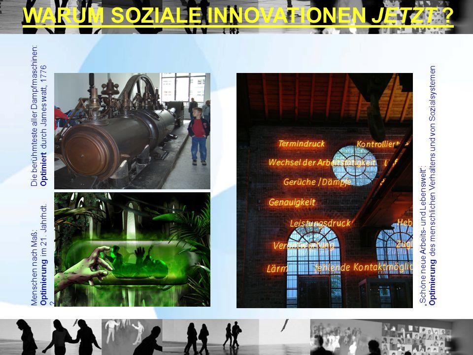 Die berühmteste aller Dampfmaschinen:Optimiert durch James watt, 1776 Menschen nach Maß:Optimierung im 21.