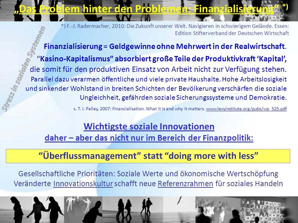 *) F.-J. Radermacher, 2010: Die Zukunft unserer Welt.