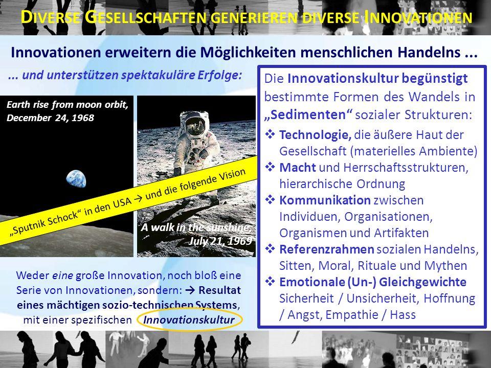 Weder eine große Innovation, noch bloß eine Serie von Innovationen, sondern: Resultat eines mächtigen sozio-technischen Systems, mit einer spezifischen Innovationskultur Innovationen erweitern die Möglichkeiten menschlichen Handelns...