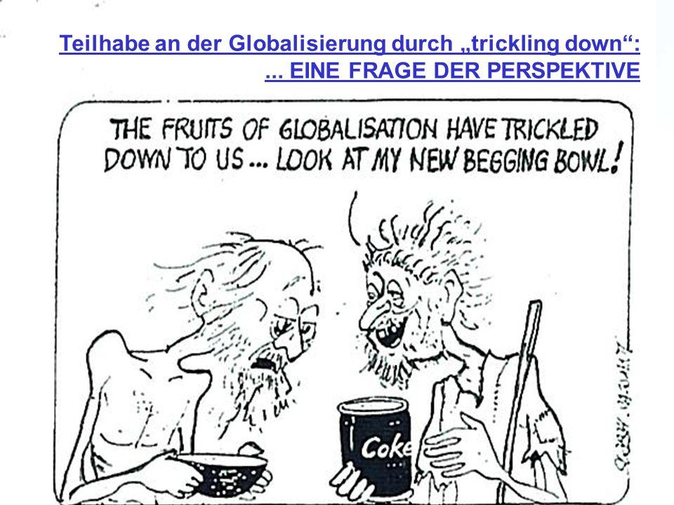 Teilhabe an der Globalisierung durch trickling down:... EINE FRAGE DER PERSPEKTIVE
