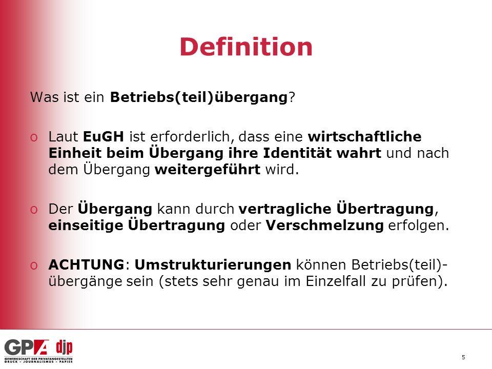 5 Definition Was ist ein Betriebs(teil)übergang.